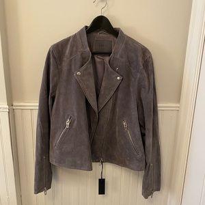 Jackets & Blazers - BlankNYC Grey Suede Moto Jacket - NWT